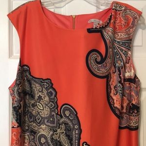 Dress Barn orange dress